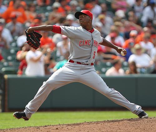 Cincinnati Reds relief pitcher Aroldis Chapman (54)