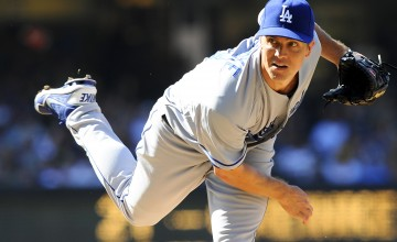 June 22, 2013; San Diego, CA, USA; Los Angeles Dodgers starting pitcher Zack Greinke (21) throws during the first inning against the San Diego Padres at Petco Park. Mandatory Credit: Christopher Hanewinckel-USA TODAY Sports